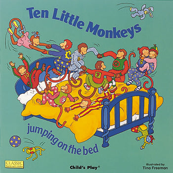 Childs Play Books Ten Little Monkeys Jumping On The