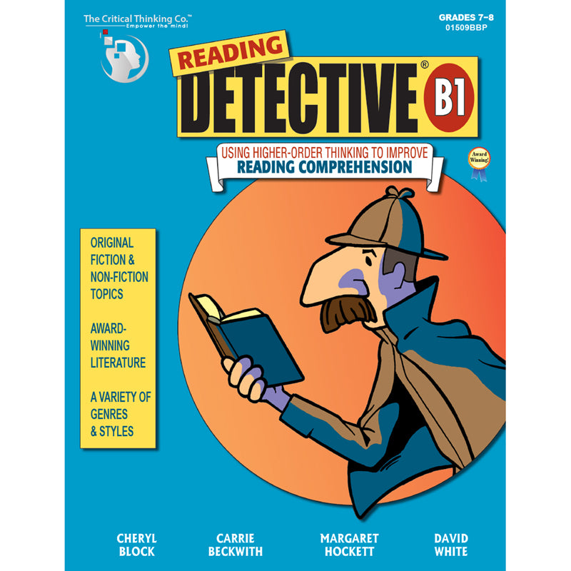 The Critical Thinking Co Reading Detective Book Grades 7-9