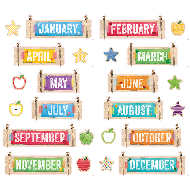 Creative Teaching Press Upcycled Style Months Of The Year Chart