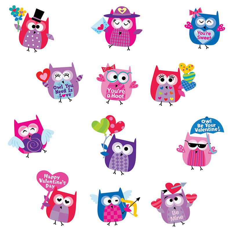Creative Teaching Press Owl Be Your Valentine 60 Piece Reward Stickers