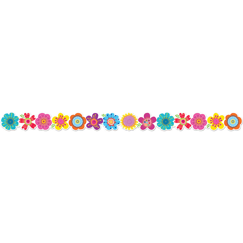 Creative Teaching Press Springtime Blooms Bulletin Board Border