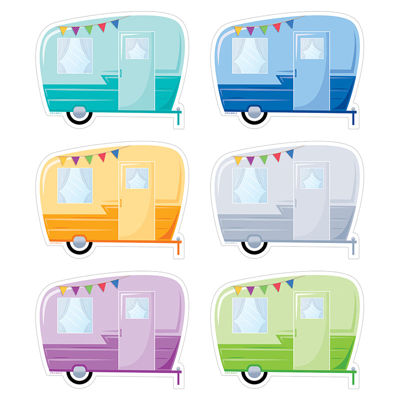 Creative Teaching Press 6 Inch Vintage Trailer Cut Outs