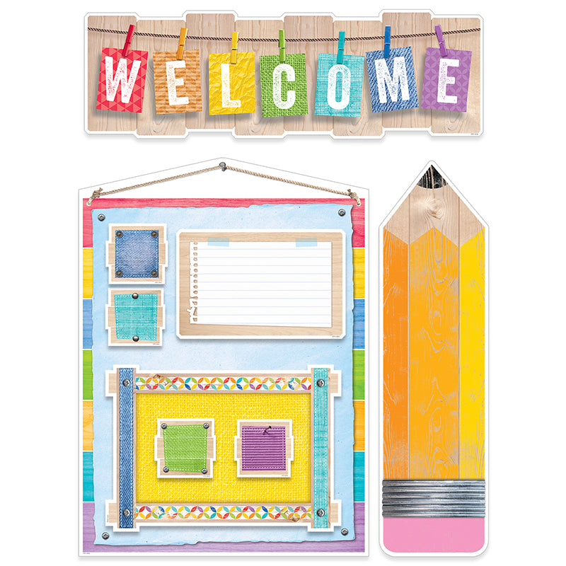 Creative Teaching Press Upcycle Style Welcome Bulletin Board Set
