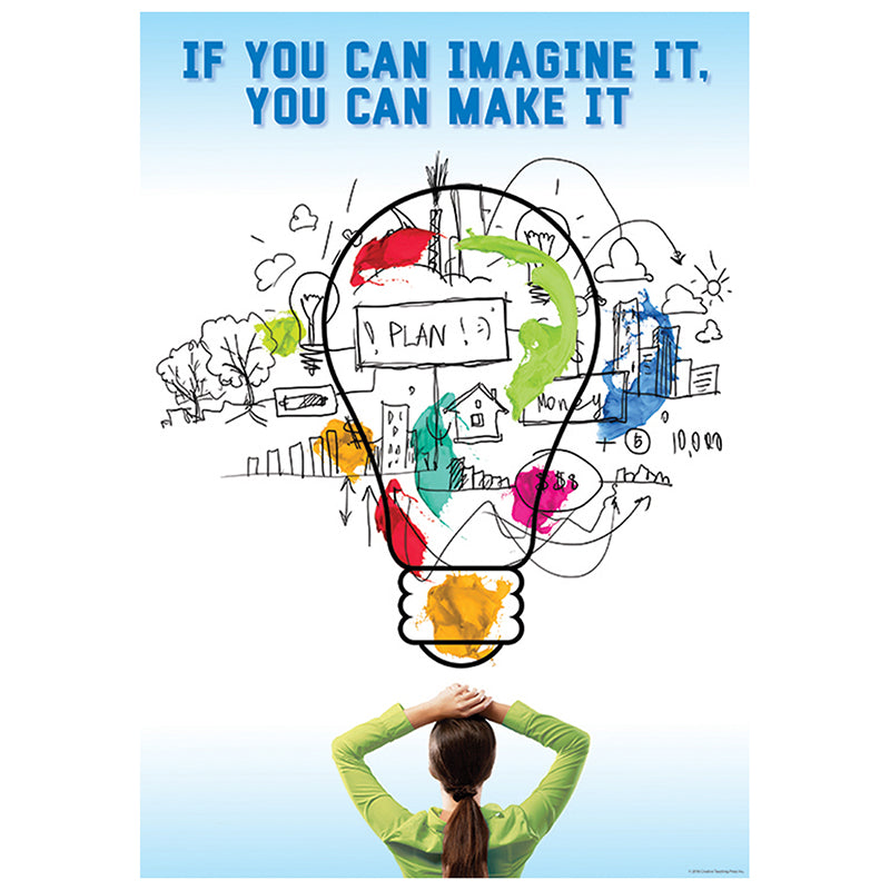 Creative Teaching Press If You Can Imagine It Poster