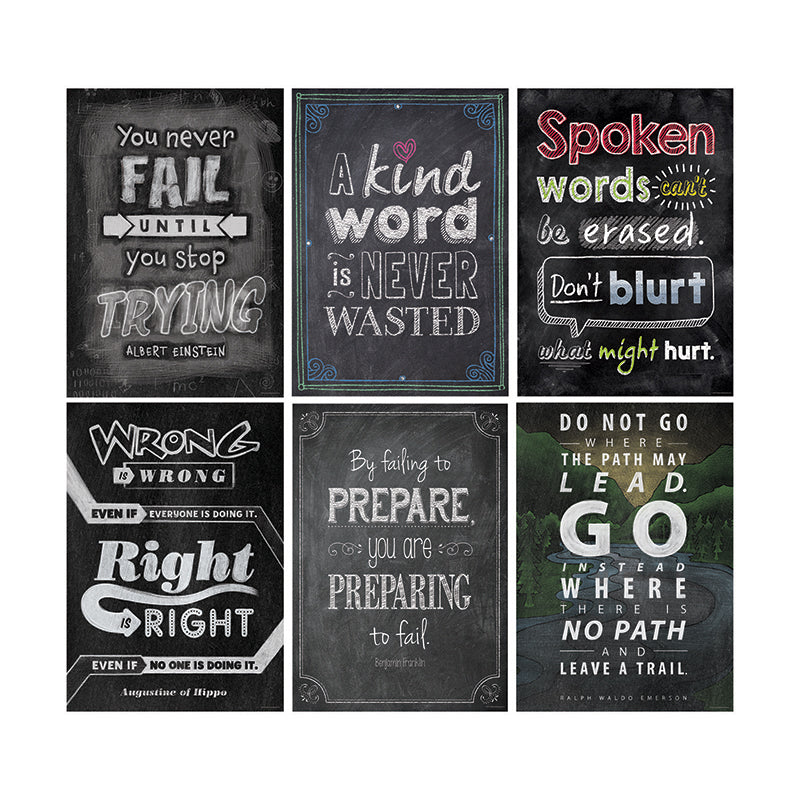 Creative Teaching Press Inspire U Chalkboard Poster Pack