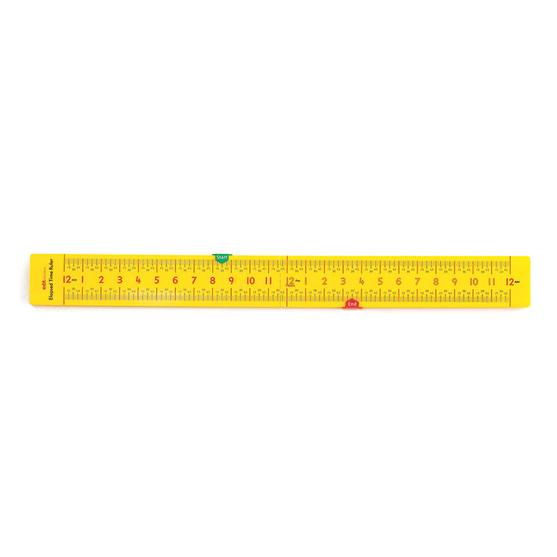 Learning Advantage Folding Elapsed Time Ruler, Pack of 10