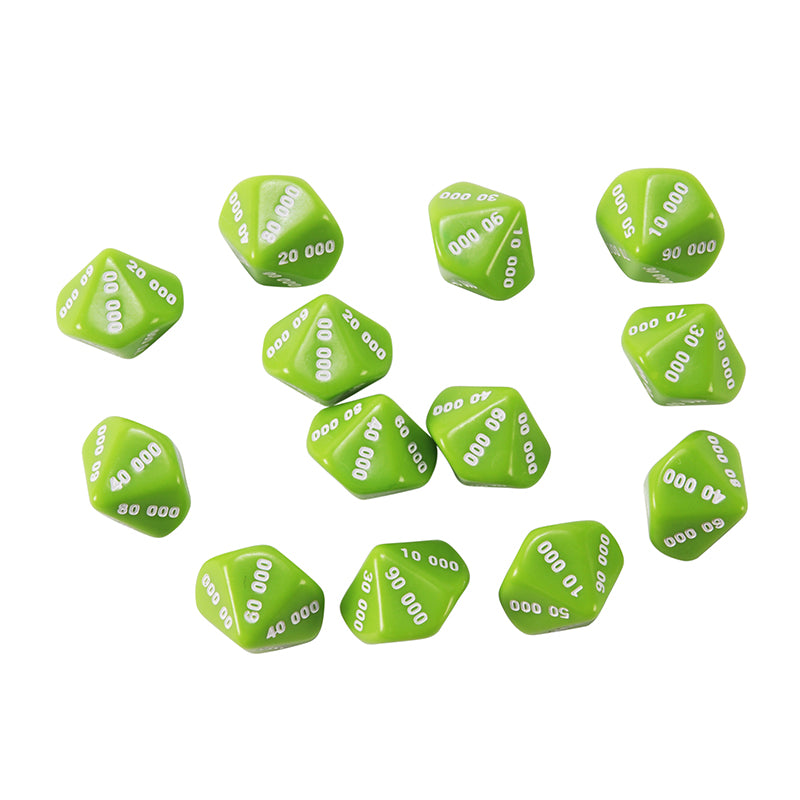 Learning Advantage Ten Thousands Place Value Dice, Set of 12