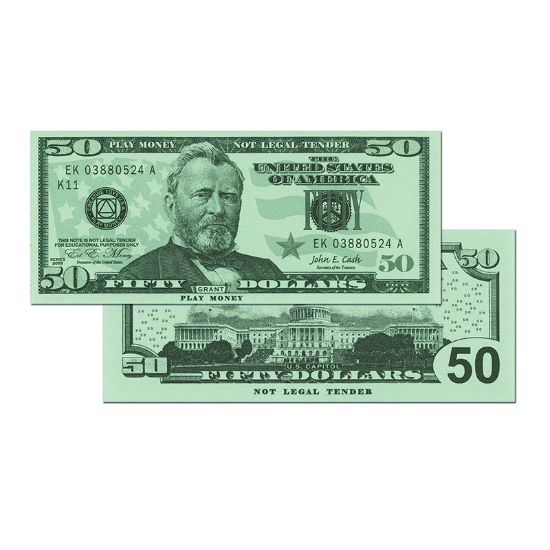 $50 Bills Set Of 50