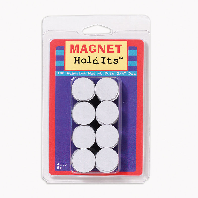 "100, 3/4"" Diameter Magnet Dots with Adhesive"