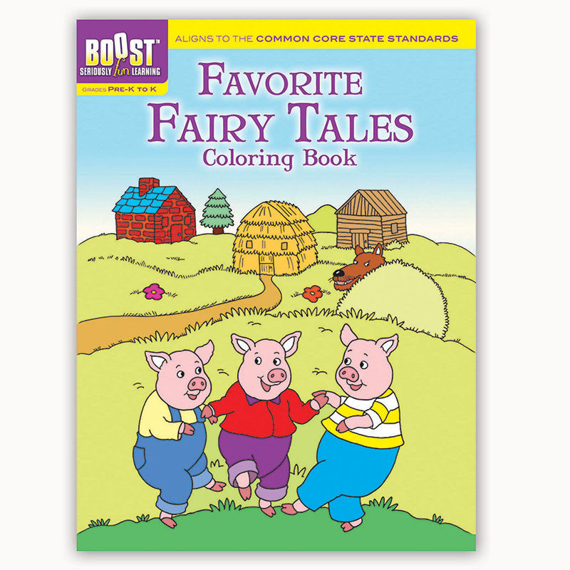 Boost Favorite Fairy Tales Coloring Book Gr Pk-K
