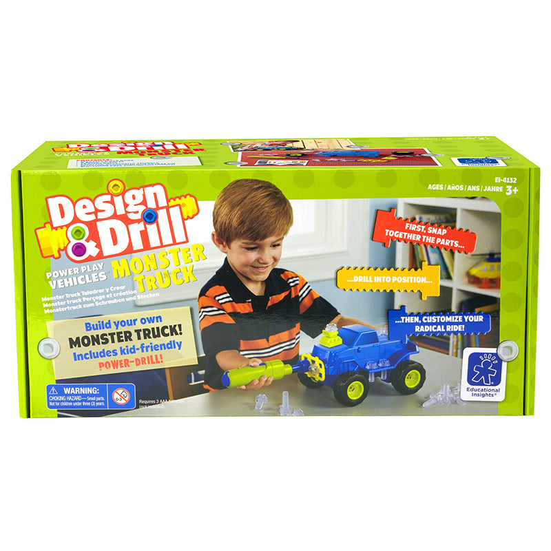 Learning Resources Monster Truck Design and Drill Power Play Vehicles