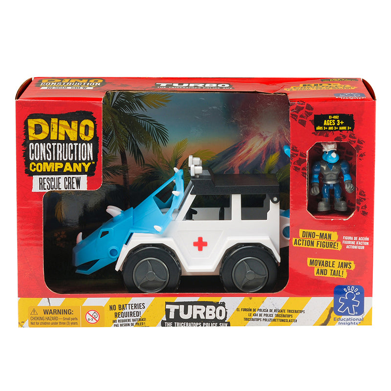 Learning Resources Turbo Dino Construction Co Rescue Crew