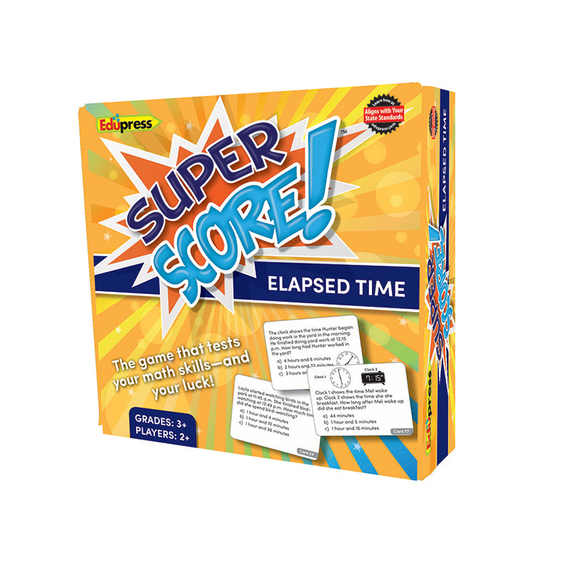 Edupress Elapsed Time Super Score Game, Grade 3