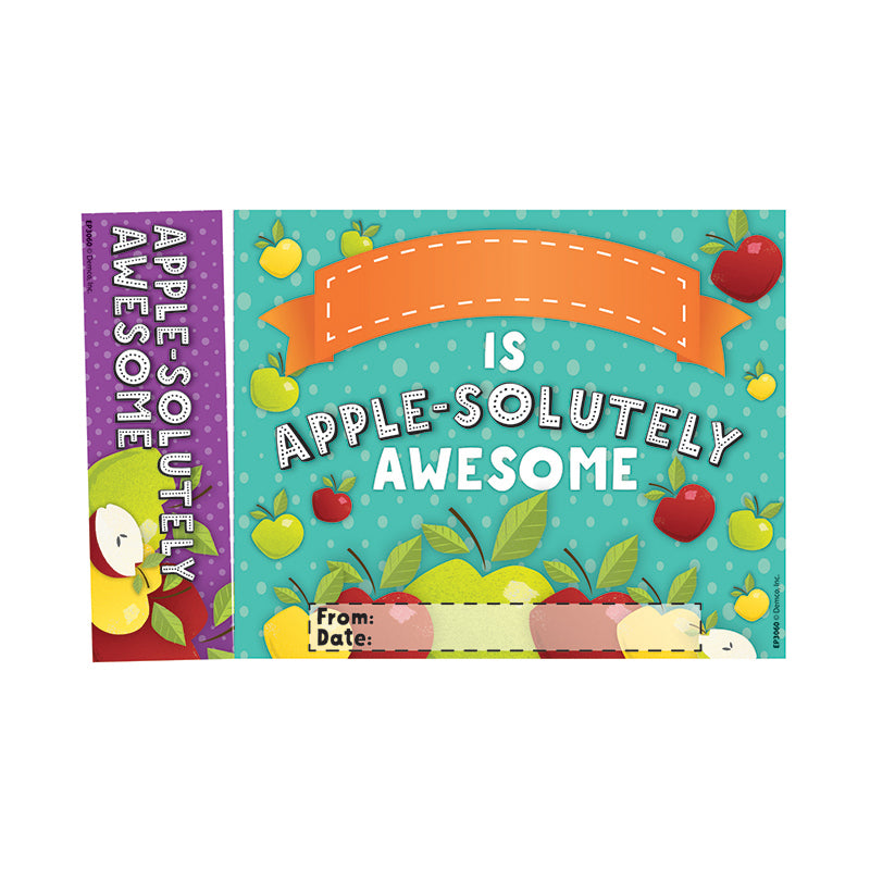 Edupress Apple-Solutely Awesome Bookmarks, Pack of 30