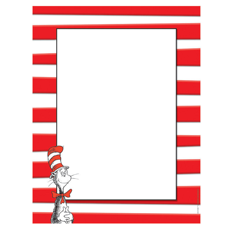 Dr Seuss The Cat In The Hat Computer Paper