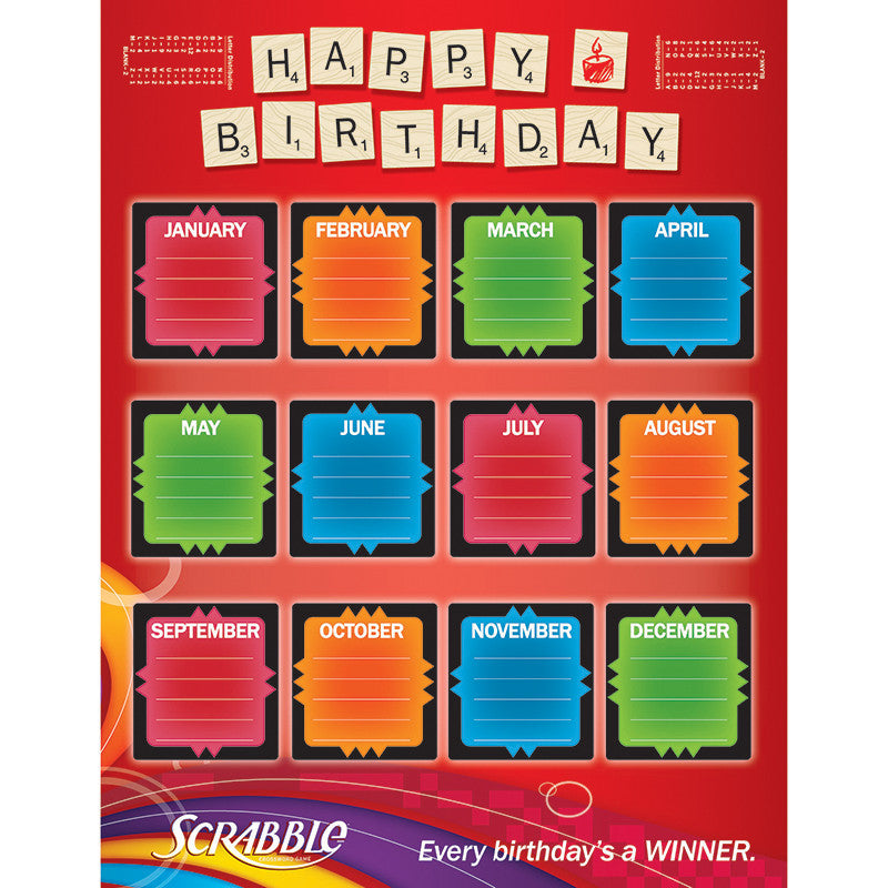 Scrabble Birthday 17X22 Poster