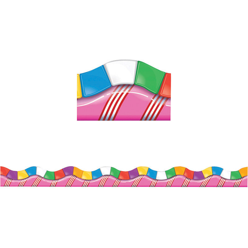 Candy Land Dimensional Look Extra Wide Die Cut Deco Trim