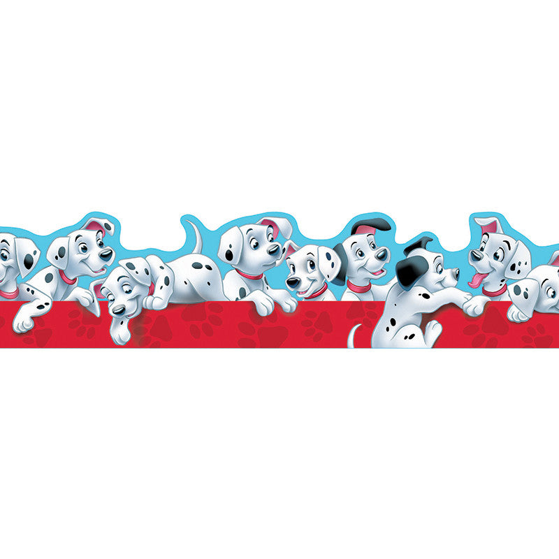 101 Dalmatians Puppies Extra Wide Die Cut Deco Trim