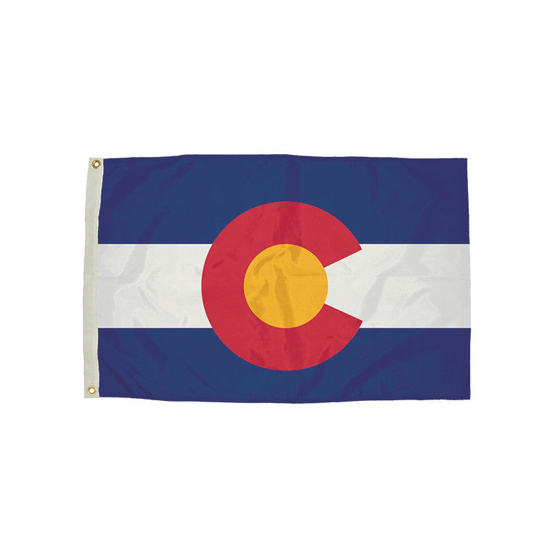 3X5 Nylon Colorado Flag Heading & Grommets