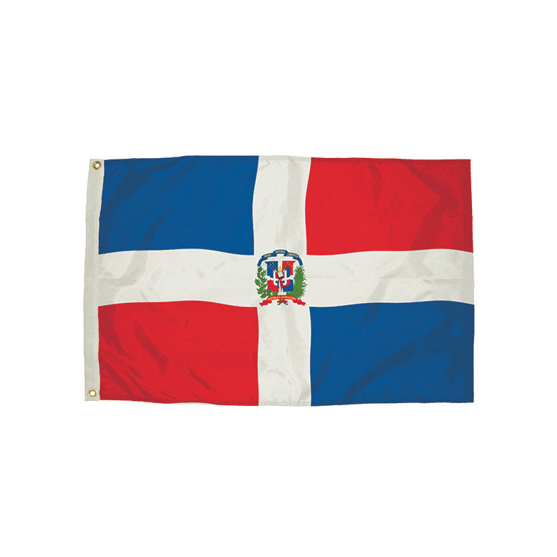 3X5 Nylon Dominican Republic Flag Heading & Grommets