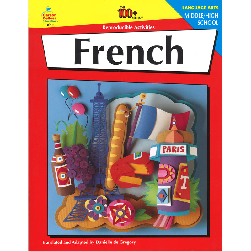 Carson Dellosa Middle and High School French Activity Book