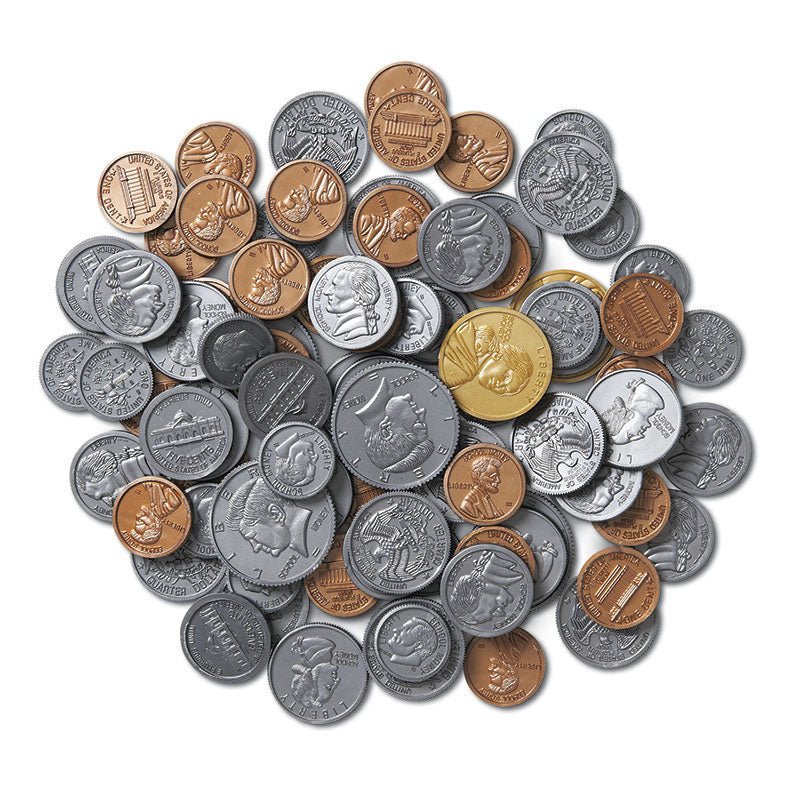 Learning Resources Coins in a Bank Coin Set, Pack of 96