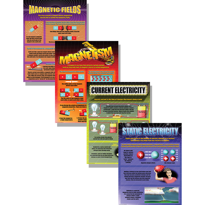 McDonald Publishing Electricity and Magnestism Poster Set