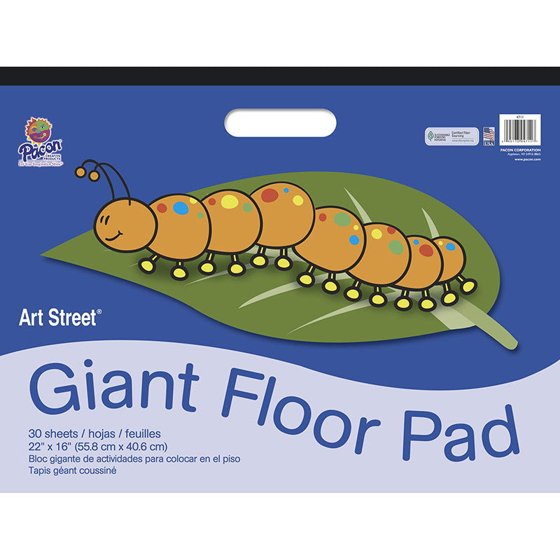 Floor Pad With Handle 22X16 30Ct