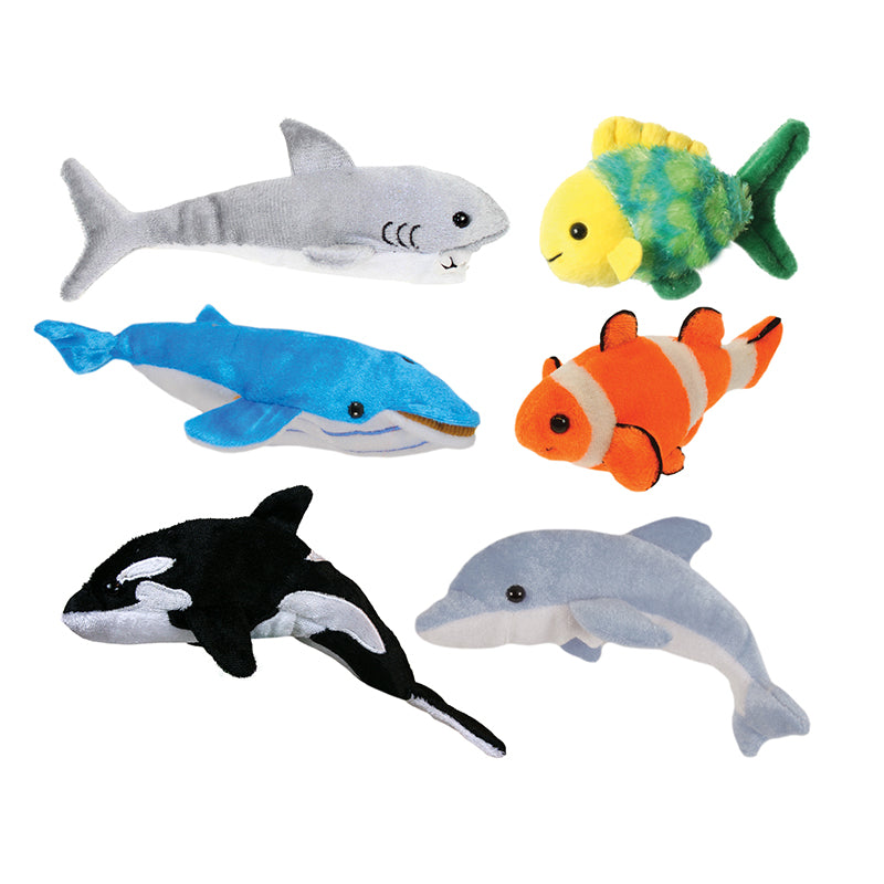The Puppet Company Sea Life Finger Puppets, Set Of 6