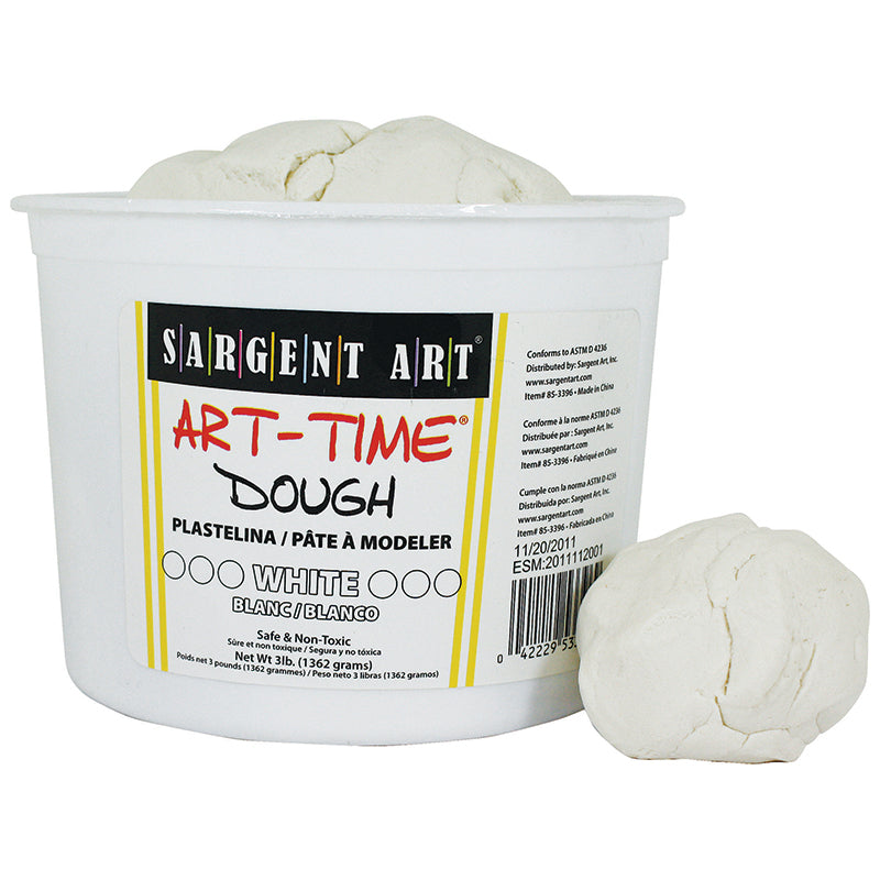 Sargent Art White Art Time Dough, 3 Pounds