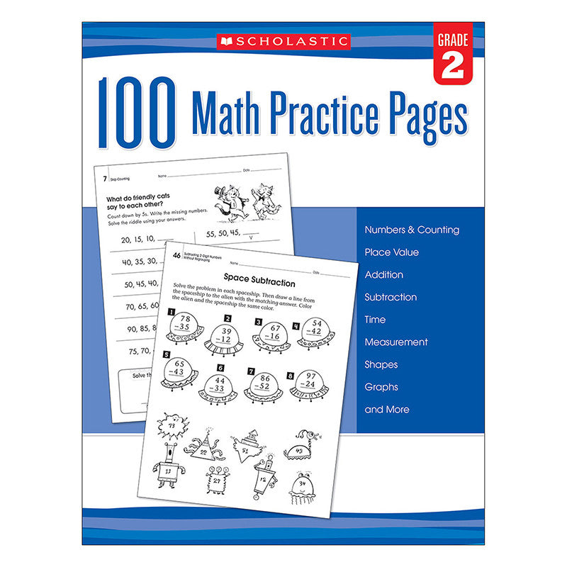 101 Math Practice Pages Gr 2