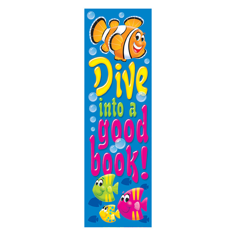 Trend Enterprises Inc. Sea Buddies Dive Into A Good Book Bookmarks, 36 Pack