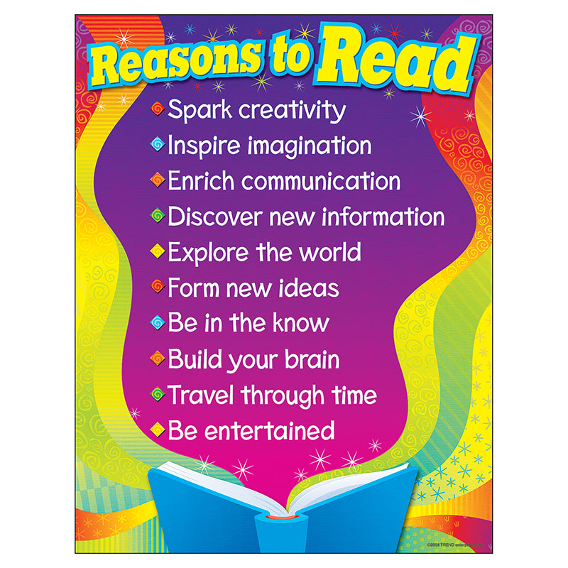 Trend Enterprises Inc. Reasons To Read Learning Chart, 17x22 Inches