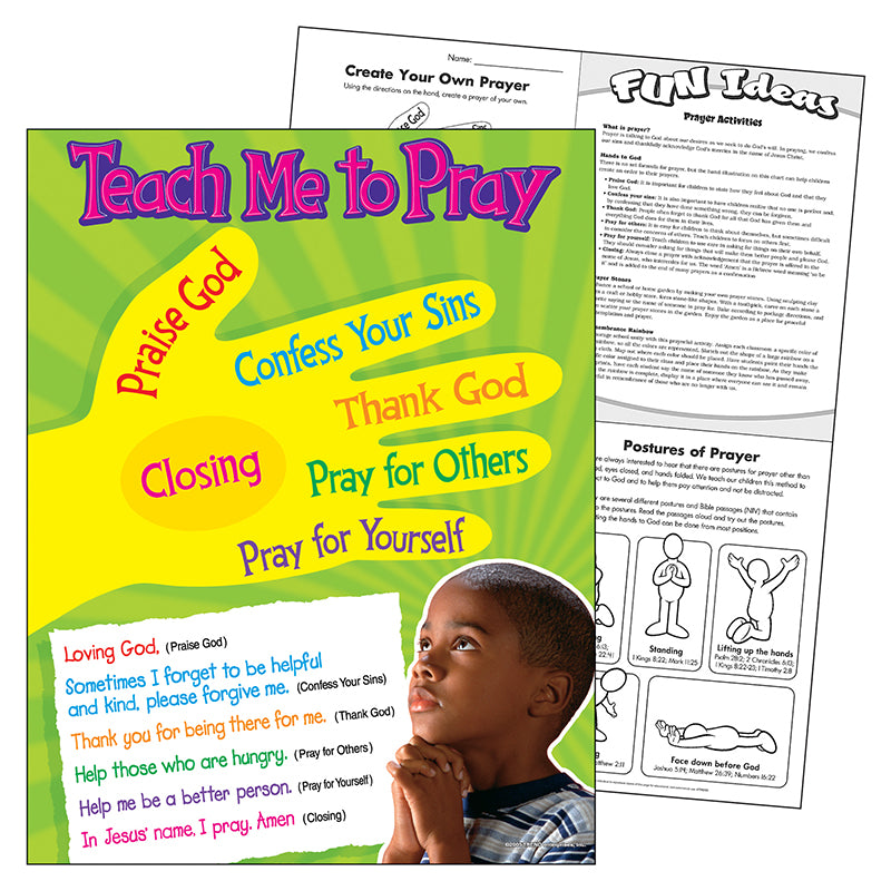 Trend Enterprises Teach Me To Pray Learning Chart, 17x22 Inches