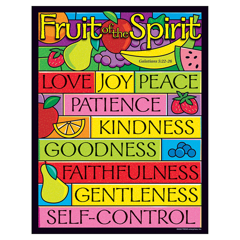 Trend Enterprises Fruit Of The Spirit Learning Chart, 17x22 Inches