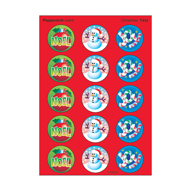 Trend Enterprises  Christmas Stinky Stickers, 60 Pack