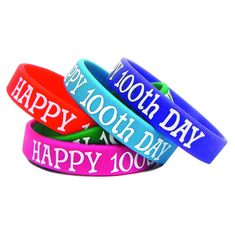 Happy 100Th Day Wristbands 10/Pk