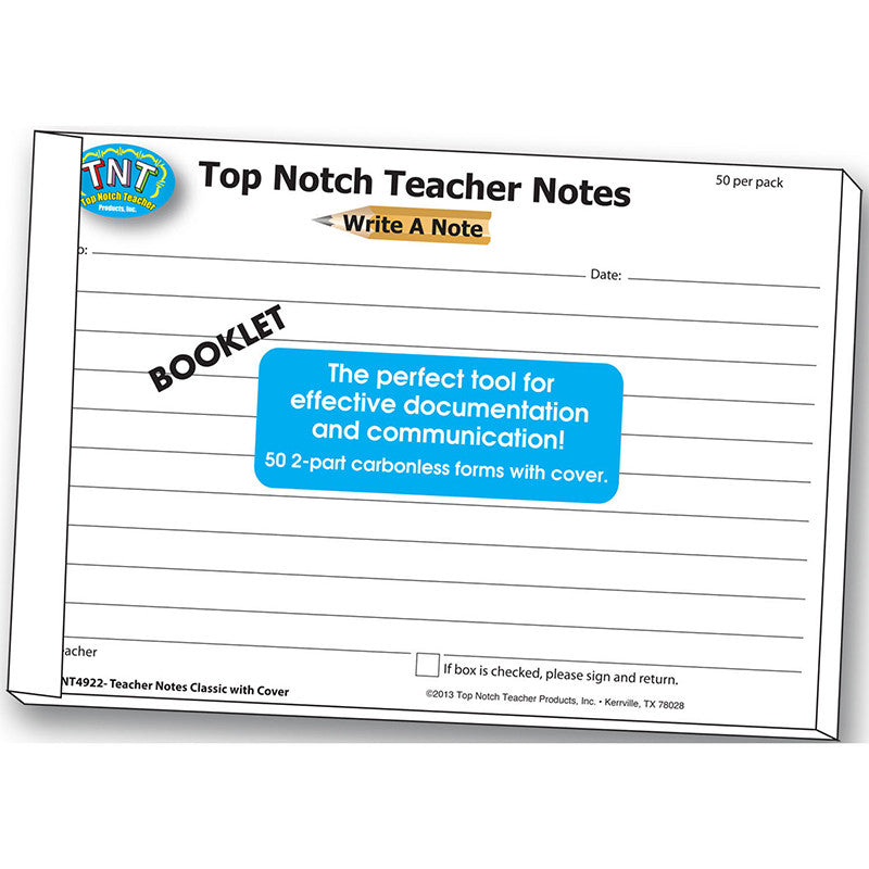 Write A Note Booklet