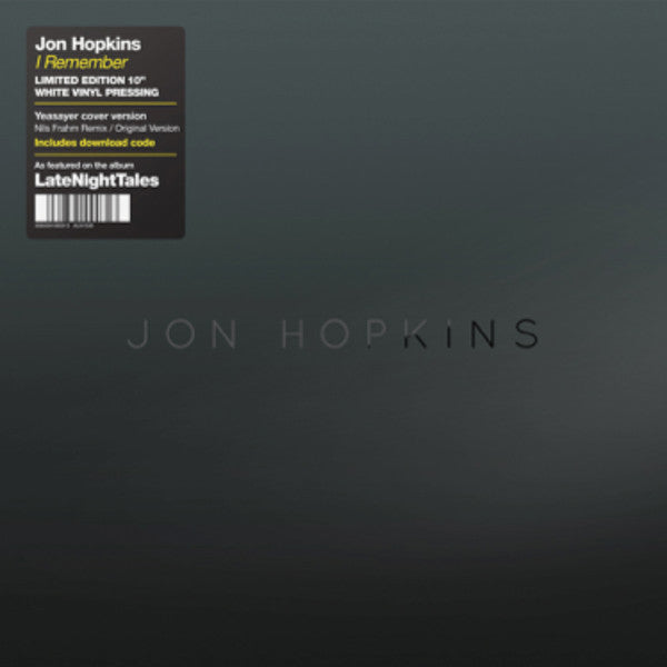 Jon Hopkins 'I Remember' (Nils Frahm Remix) - white vinyl 10