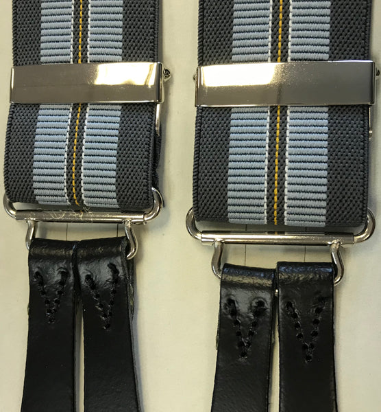 Button On Striped Braces