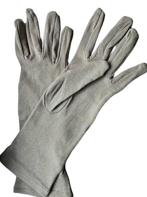 Grey nylon gloves