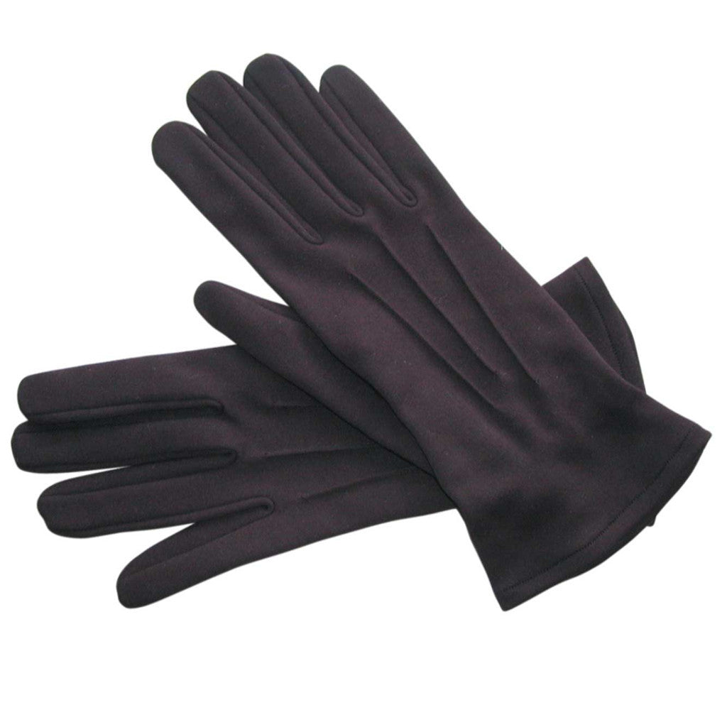 Men's Black Cotton Gloves