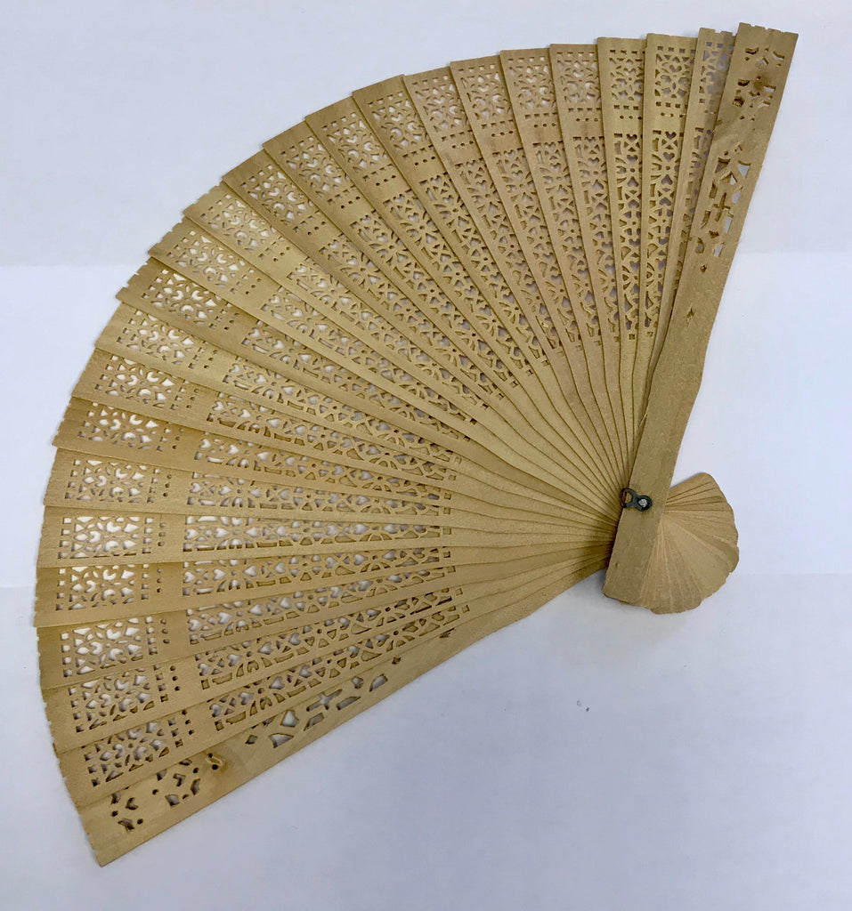 Small Plain Bamboo Fan