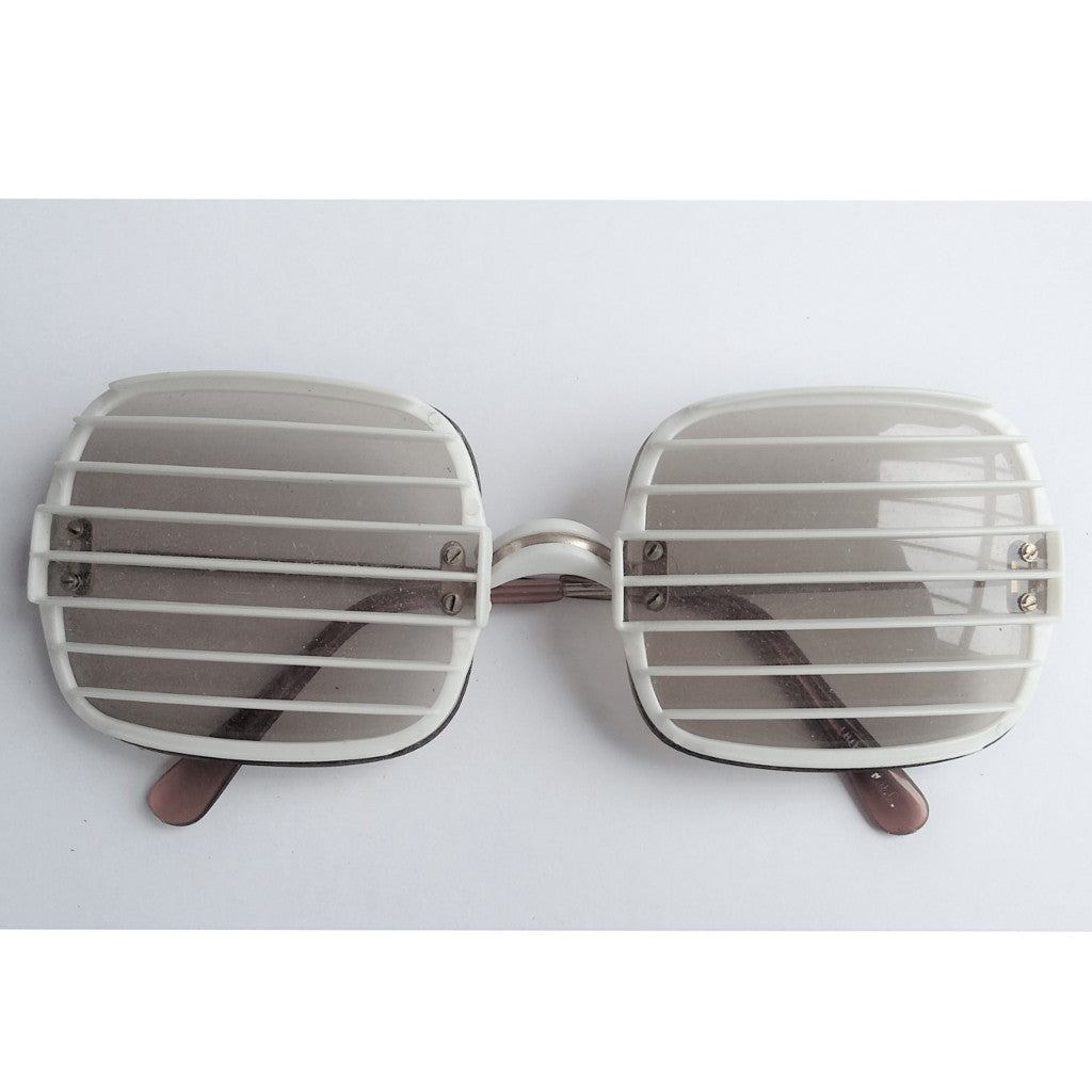 White Slatted Sunglasses