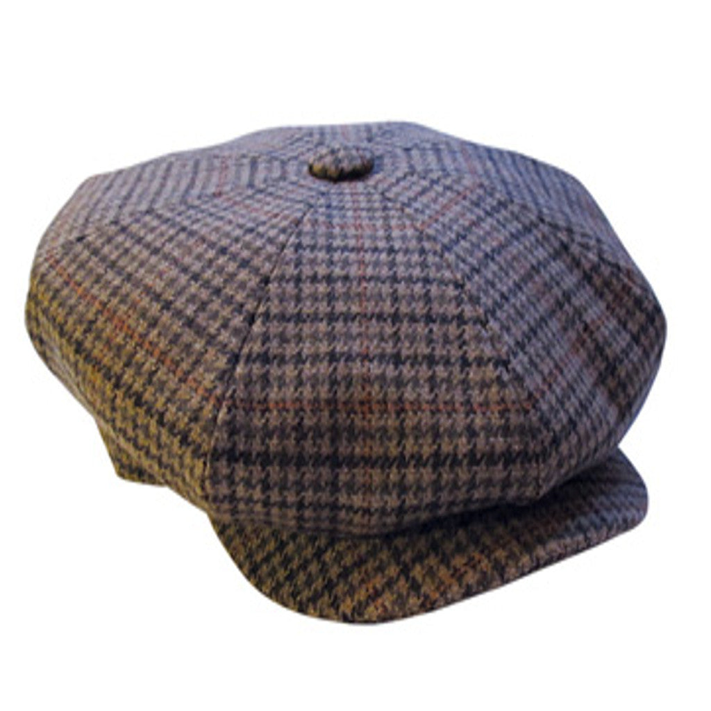 Large Eight Piece Tweed Cap