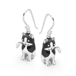 Black Kitty Earrings
