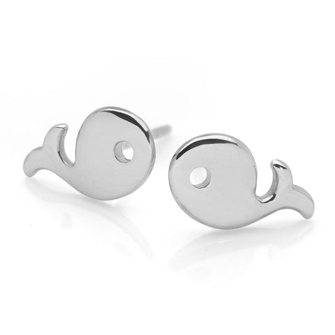 Silver Whale Studs