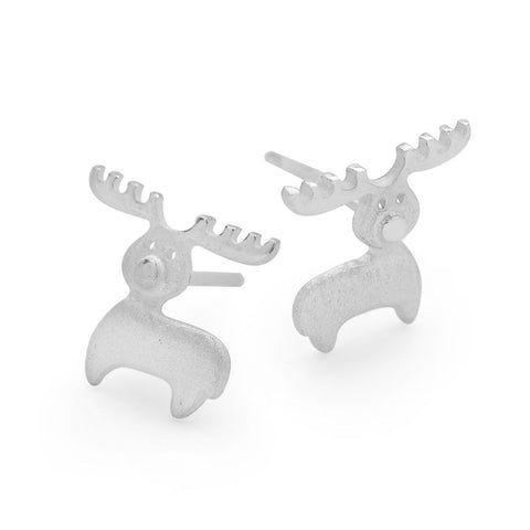 Satin Reindeer Earrings