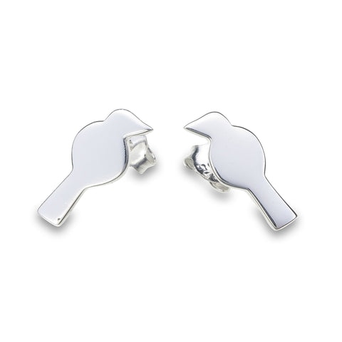 Silver Canary Studs