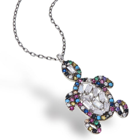 Crystal Turtle Necklace